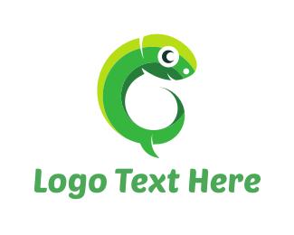 Gecko - Green Tadpole logo design
