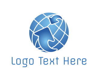 Earth - Globe Technology logo design