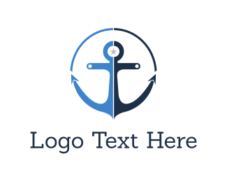 Boat - Blue Anchor  logo design
