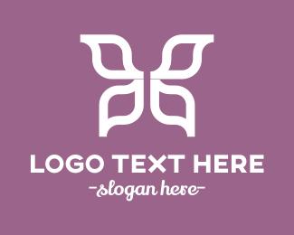 Spa - White Butterfly logo design