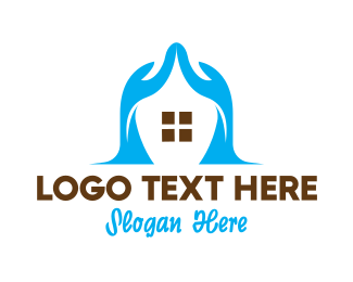 Pedicure - Abstract Hand House logo design
