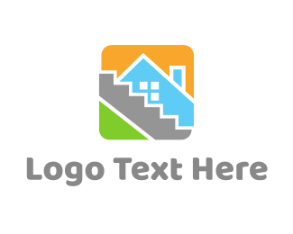Removalist - House Tile Square logo design