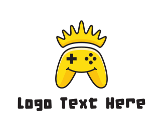 Joystick - Yellow Smiling Controller logo design