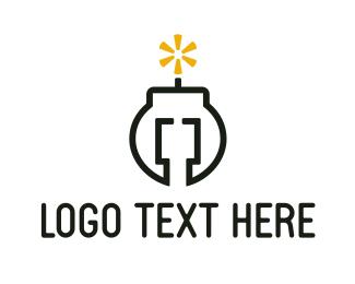 Gaming - Bomb Code logo design