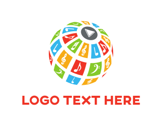 Tune - Music & Globe logo design