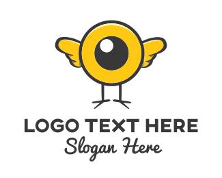 Cartoonish - Eye Bird logo design