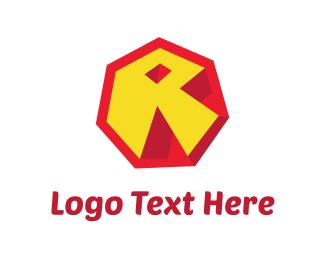 Red And Yellow - Abstract Letter R logo design
