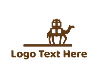 Sahara - Camel Caravan logo design