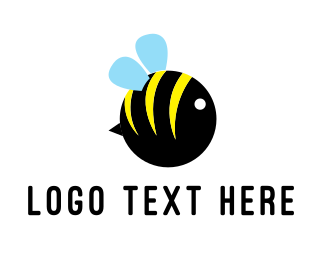 Wasp - Round Bee logo design