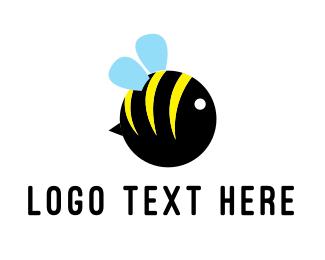 Sting - Round Bee logo design