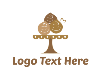 Muffin - Chocolate Dessert  logo design