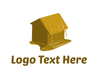 Candle - Wax House logo design