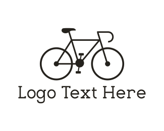 Black And White - Black Bicycle logo design