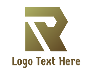 Fabrication - Gradient Polygon R logo design