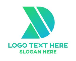 Mechanical - Green Shape D logo design