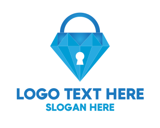Secure - Diamond Lock logo design