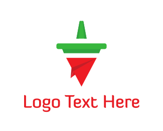 Paper - Plane & Chili Pepper logo design