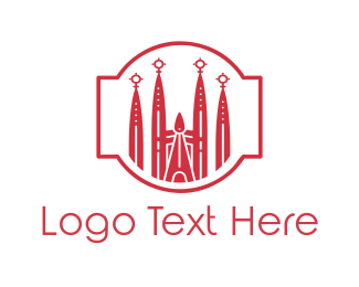 Skyscraper - Barcelona Church logo design
