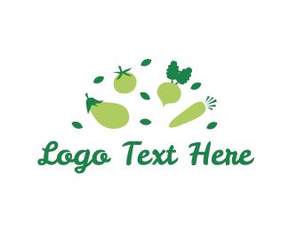 Eggplant - Green Vegetables logo design