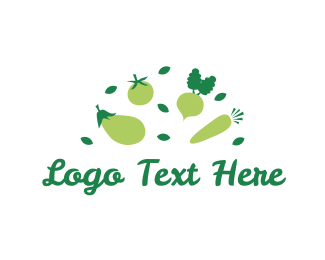 Tomato - Green Vegetables logo design
