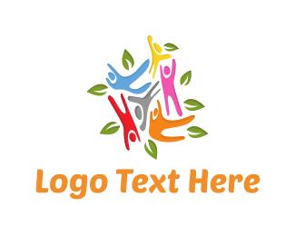 Person - Colorful Community logo design