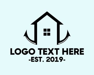 Beach House - Anchor House  logo design