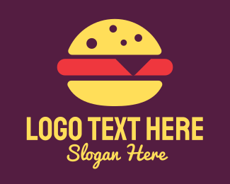 Lunch - Red Burger logo design