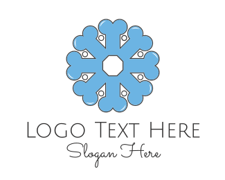 Fossil - Bone Flower logo design