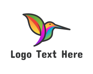 Fauna - Tropical Hummingbird logo design