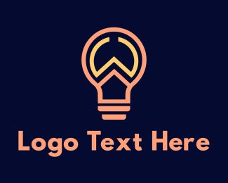 Lighting - Outline W Light Bulb logo design