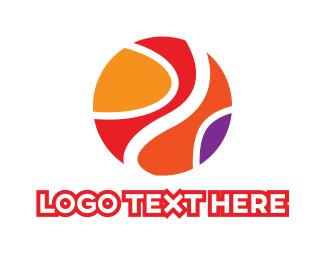 Basketball - Colorful Basketball  logo design