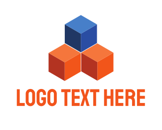 Holding - Construction Cubes logo design