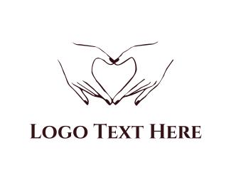Sign - Heart & Hands logo design