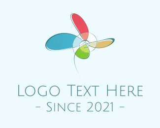 Art - Abstract Flower logo design