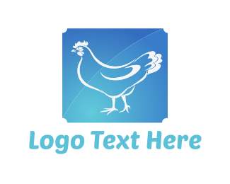 Farm - Blue Chicken logo design