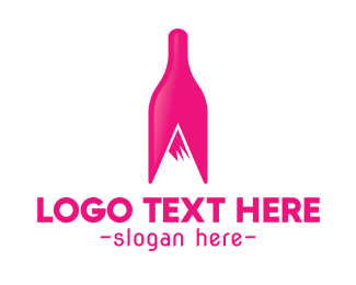 Magenta Wine Mountain Logo