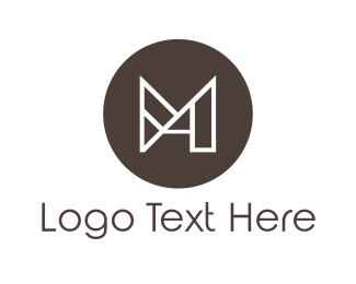 """Minimalist Letter M"" by artisparkdesign"
