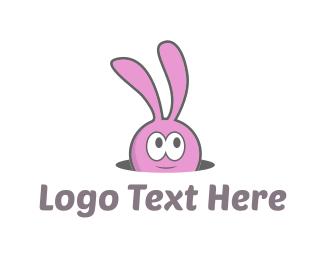 """Cute Pink Bunny"" by LogoPick"