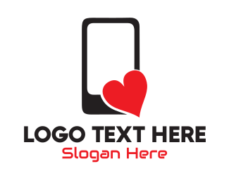 Phone - Love Application logo design