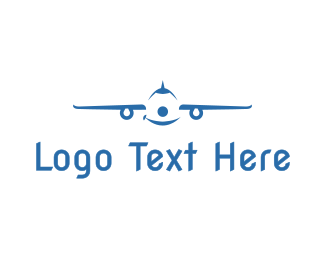 Airplane - Smiling Airplane logo design
