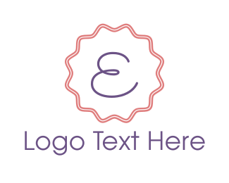 Stamp - Cute Emblem Letter E logo design