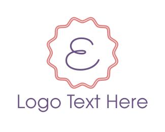 Confectionery - Cute Emblem Letter E logo design