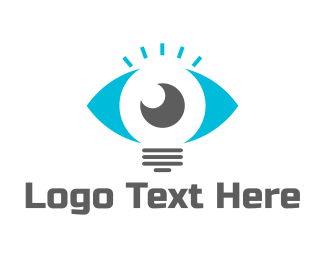 Light - Lamp Eye logo design