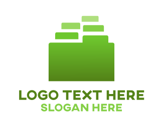 Database - Green Folder logo design