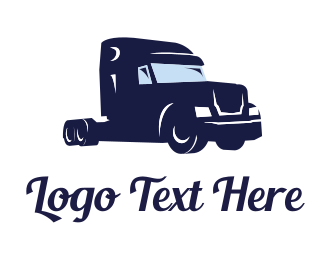 Trucking Company - Big Blue Truck logo design