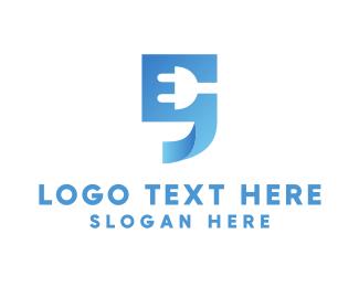 Plug In - Blue Quote  logo design