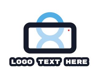Cellphone - Smartphone Person logo design