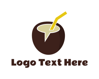 Coconut - Coco Chat logo design