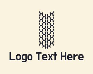 Truck - Tire Tracks Logo logo design