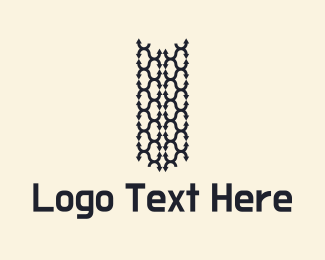 Truck - Tire Tracks Logo logo design